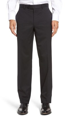 Men's David Donahue Ryan Regular Fit Wool Trousers $225 thestylecure.com