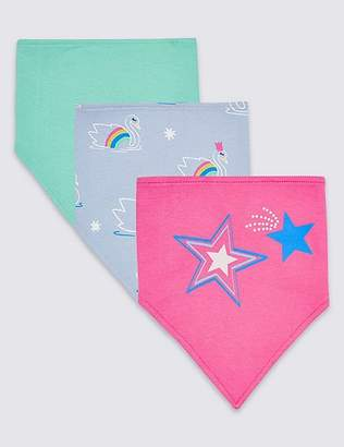 Marks and Spencer 3 Pack Pure Cotton Large Dribble Bibs