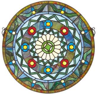 Toscano Design Kaleidoscope Stained Glass Window