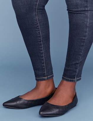 Lane Bryant Quilted Pointed-Toe Flat