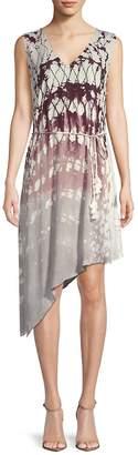 Young Fabulous & Broke Women's Printed Asymmetric Dress