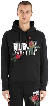 Hooded Floral Embroidered Sweatshirt