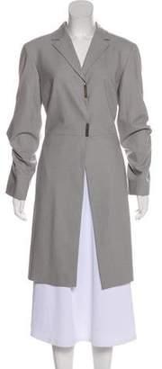 Gianfranco Ferre Wool-Blend Knee-Length Coat