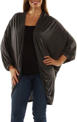 24/7 Comfort Apparel Women's Dolman Sleeve Oversized Long Shrug