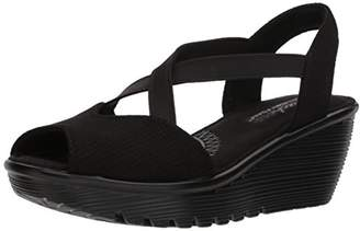 Skechers Women's Parallel-Piazza-Peep Toe Gored Slingback Wedge Sandal