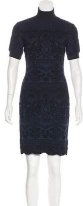 Alberta Ferretti Knit Sheath Dress