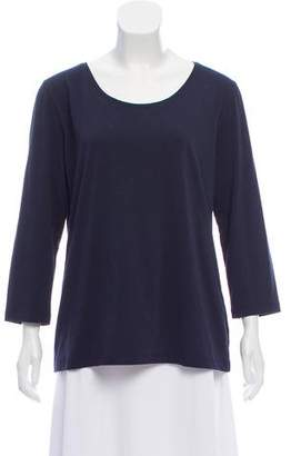 Rene Lezard Long Sleeve Scoop Neck Top