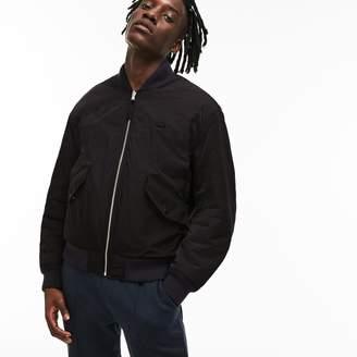 Lacoste Unisex LIVE Reversible Nylon And Fleece Bomber Jacket