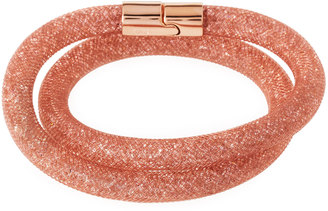 Swarovski Stardust Convertible Crystal Mesh Bracelet/Choker, Pink, Small $60 thestylecure.com
