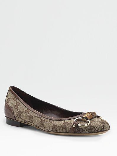 Gucci Bamboo Ballet Flats