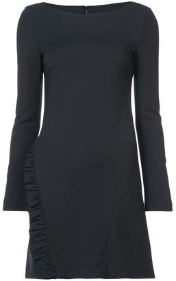 Thomas Wylde frill detail fitted dress