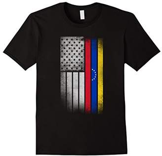Venezuelan American Flag - USA Venezuela Flag T Shirt