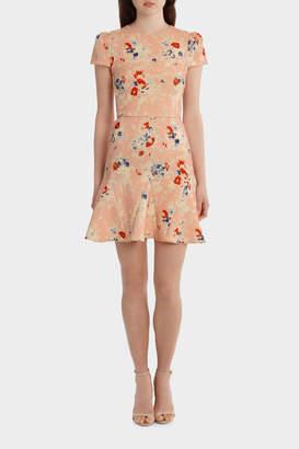 Yeojin Bae YC 7942 Double Crepe Bouquet Floral Jasmine Dress
