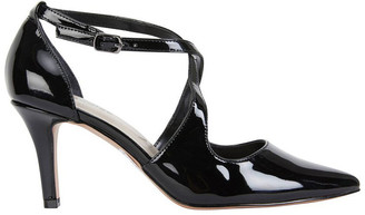 Merit Black Patent Heeled Shoes