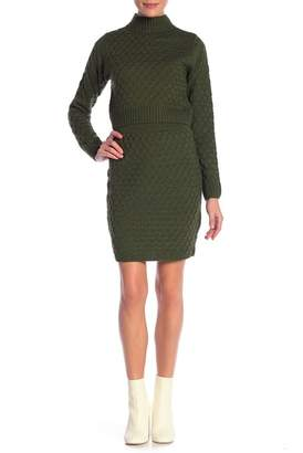 Wow Couture Mock Neck Sweater & Knit Skirt 2-Piece Set