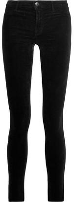 J Brand - Velvet Mid-rise Skinny Jeans - Black $200 thestylecure.com