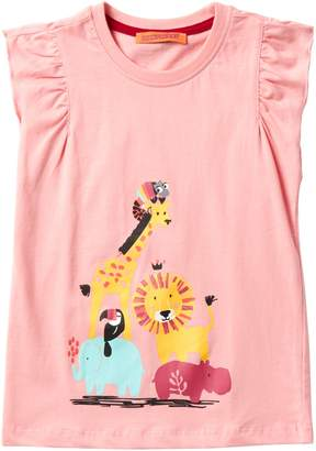 Funkyberry Ruffle Safari Top (Toddler & Little Girls)