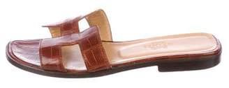 Hermes Oran Crocodile Sandals