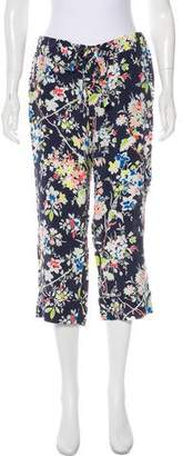 Equipment Floral Print Mid-Rise Culottes