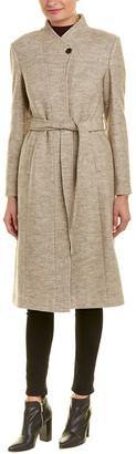 Cole Haan Molded Collar Wool-Blend Coat