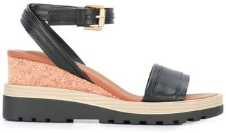 See by Chloe ankle strap wedge sandals