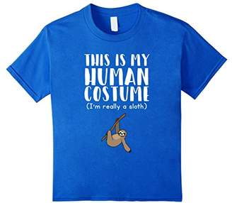 This Is My Human Costume I'm Really A Sloth Funny T-Shirt