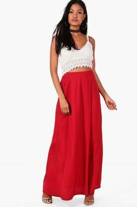 boohoo Julia Crochet Top & Maxi Skirt Co-Ord Set