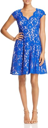 Eliza J Lace Fit-and-Flare Dress $178 thestylecure.com