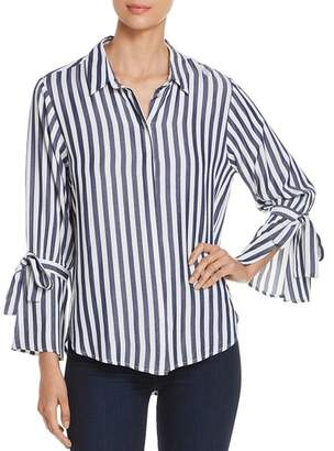 Velvet Heart Laurie Striped Tie-Sleeve Shirt