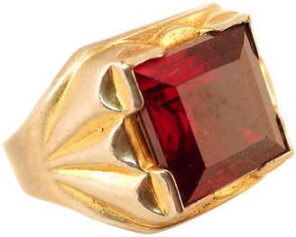 One Kings Lane Vintage 1940s Vargas Ruby Signet Ring