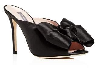 Sarah Jessica Parker Women's Vesper Satin Bow High-Heel Slide Sandals