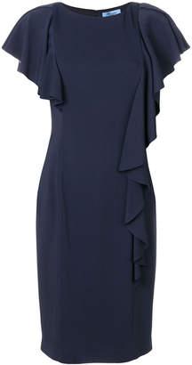 Blumarine ruffled fitted dress
