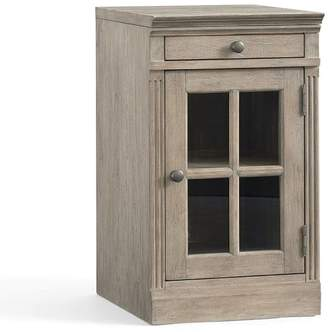 Pottery Barn Livingston Single Glass Door Cabinet with Top