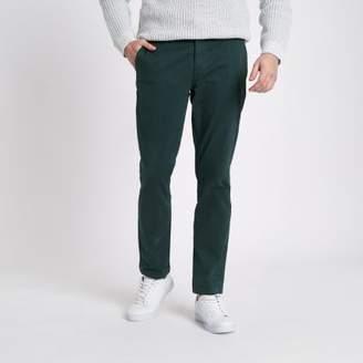 River Island Dark green slim fit chino pants