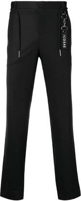 Icosae ankle zip tailored trousers