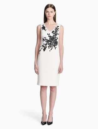 Calvin Klein floral v-neck sheath dress