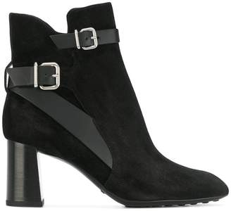 Tod's buckle strap ankle boots