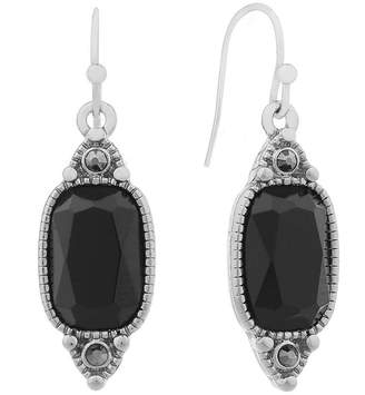Liz Claiborne Black Gray Drop Earrings