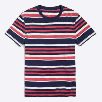 J.Crew Factory J.Crew Mercantile Broken-in multi stripe T-shirt