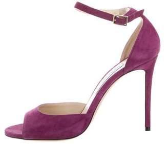 Jimmy Choo High-Heel Suede Sandals