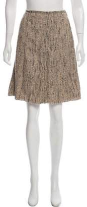Prada Bouclé Knee-Length Skirt Beige Bouclé Knee-Length Skirt