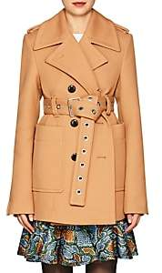Proenza Schouler Women's Twill Belted Double-Breasted Coat-Camel