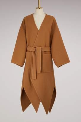 J.W.Anderson Pointed Hem Woolen Coat
