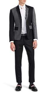 Thom Browne MEN'S HIGH-ARMHOLE TWO-TONE WOOL THREE-BUTTON SUIT