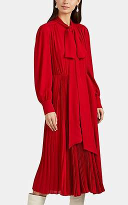 Valentino Women's Silk Tieneck Midi-Dress - Red