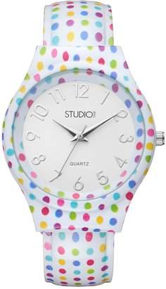 Studio Time Women's Polka Dot Cuff Watch