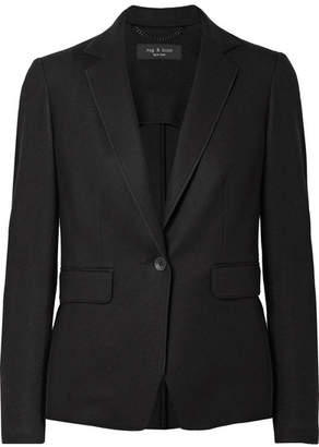 Rag & Bone Club Wool-felt Blazer - Black