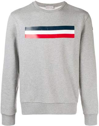 Moncler chest print sweatshirt