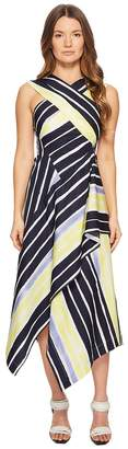Sportmax Cles Striped Wrapped Sleeveless Dress Women's Dress
