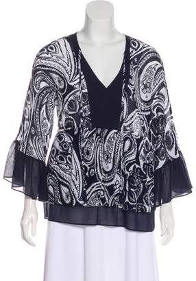Trina Turk Silk Patterned Blouse
